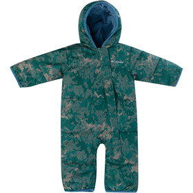 Columbia Snuggly Bunny Bunting Overall Baby, pine green continents camo/blue heron